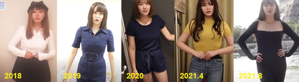 てんちむの体型の変化を比較画像で検証してみた結果…
